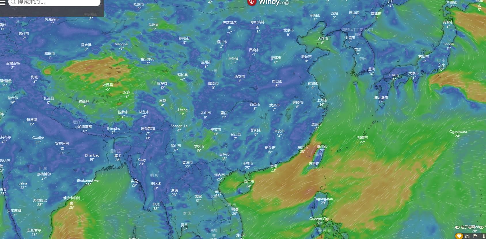 国外一款观测天气雷达网站